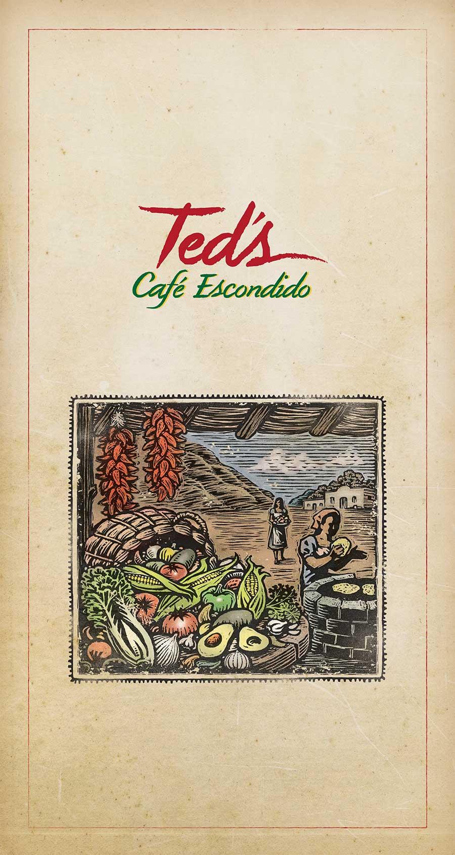 Ted's Cafe Escondido Menu Design