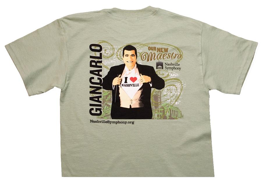 Nashville Symphony Giancarlo Guerrero Ad Campaign - T-shirt