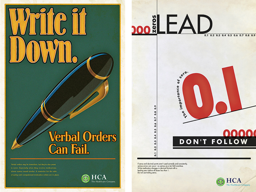 HCA Patient Safety Campaign Posters