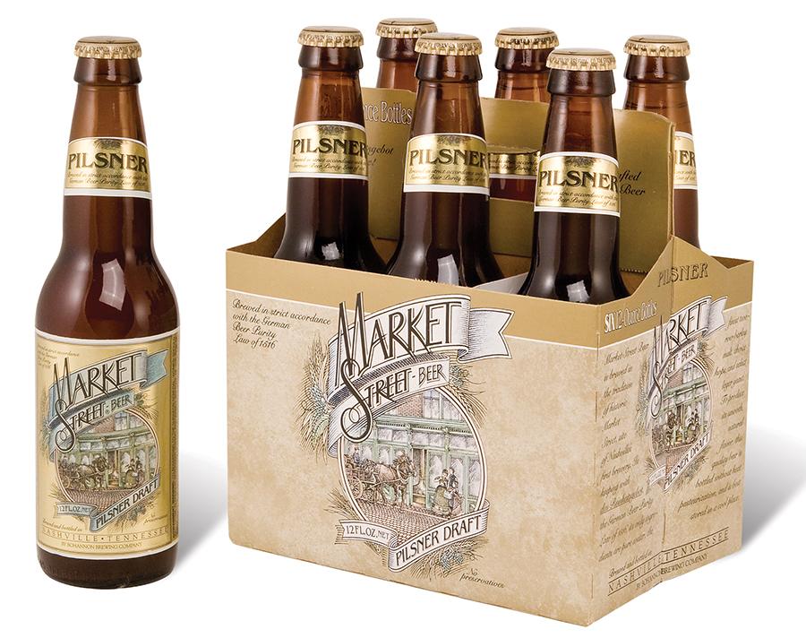 Market Street Beer packaging