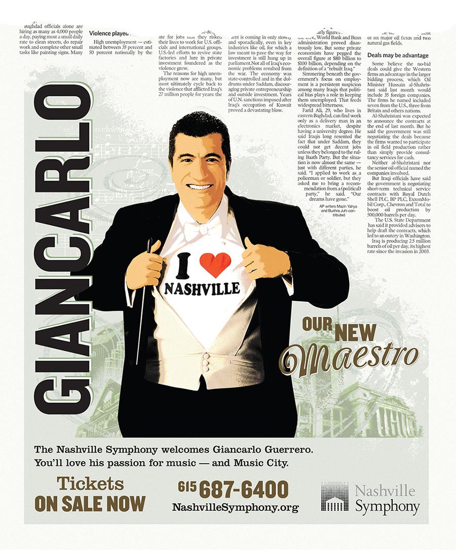 Nashville Symphony Giancarlo Guerrero Ad Campaign