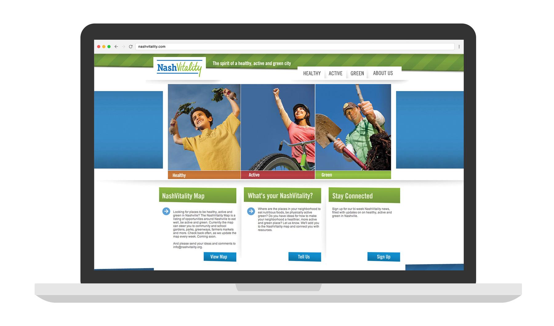 NashVitality Website laptop mockup