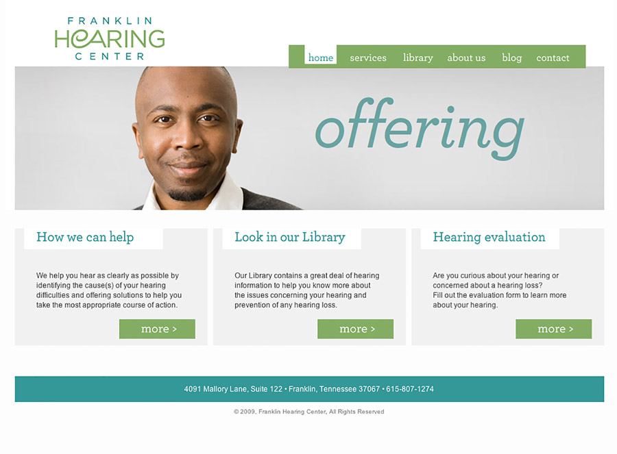 Franklin Hearing Center Website