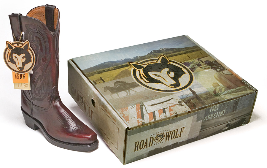 Road Wolf Boot Packaging