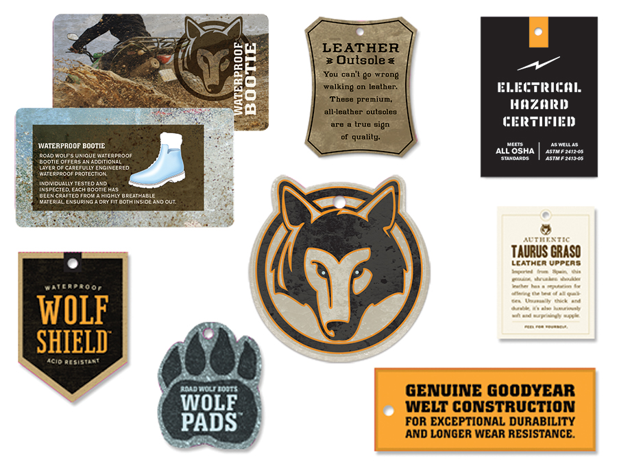 Road Wolf Hang Tags