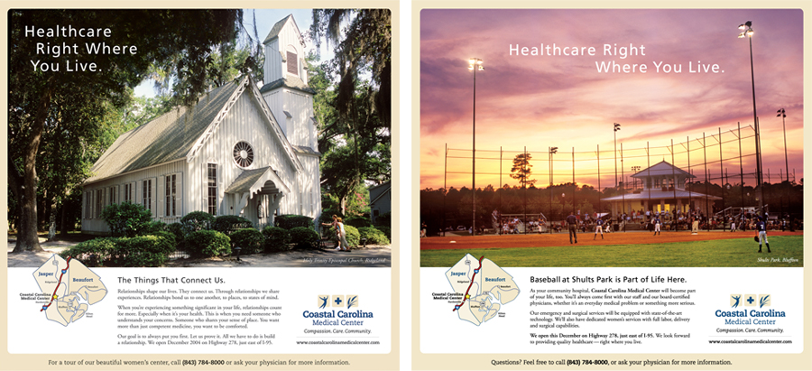 Coastal Carolina Medical Center Print Ads