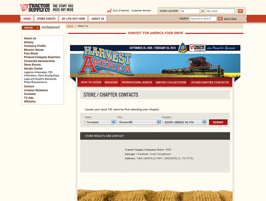 Tractor Supply Co - American Harvest Online Contest