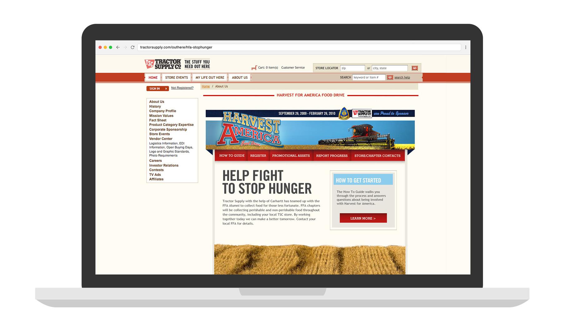TSC - HFA Contest Microsite laptop mockup