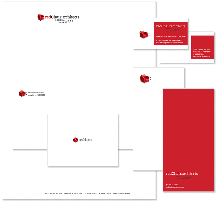Red Chair Stationery Suite