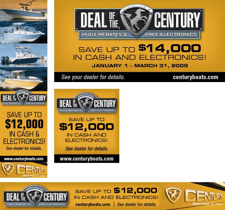 Century Boats Online Banner Ads