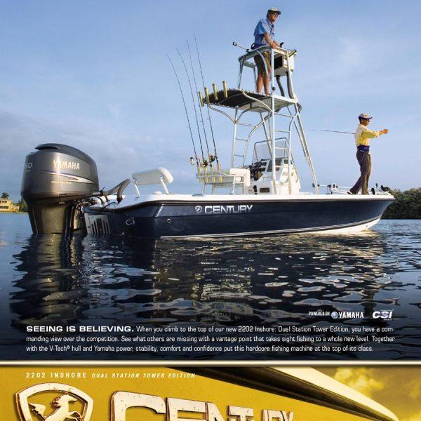 Century Boats Print Ads