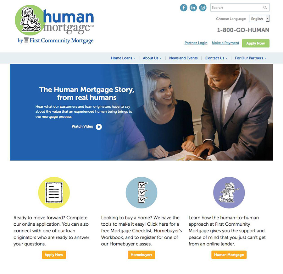 First Community Mortgage Human Mortgage Websit