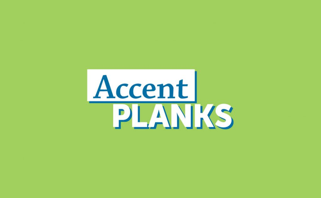 Accent Planks Logo on green background