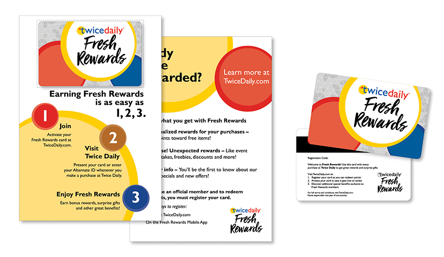 Twice Daily Customer Loyalty Rewards Collateral