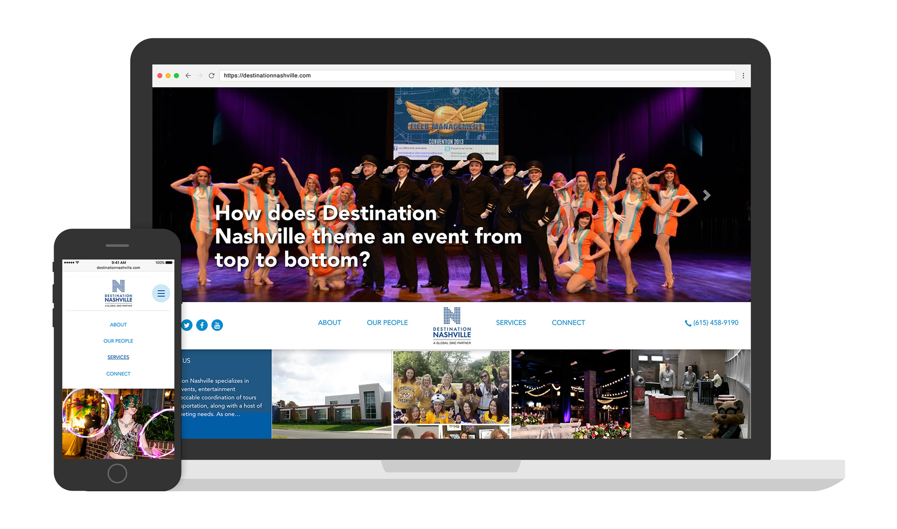 Destination Nashville Website Design